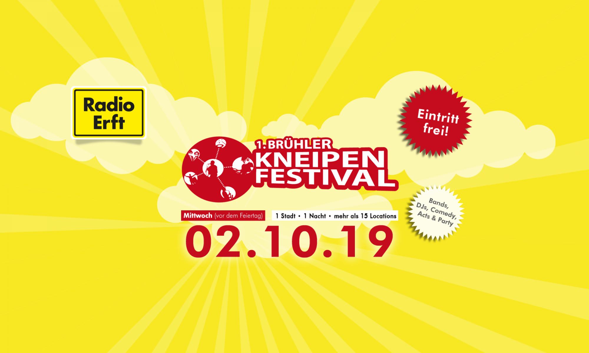 Das Brühler Kneipenfestival am 02.10.19